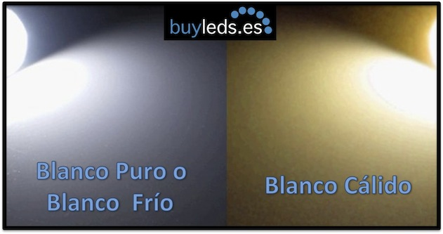 LUZ LED BLANCO CALIDO Y BLANCO FRIO